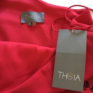 Theia Dresses - Theia Couture One Shoulder CherryBlack Dress 10